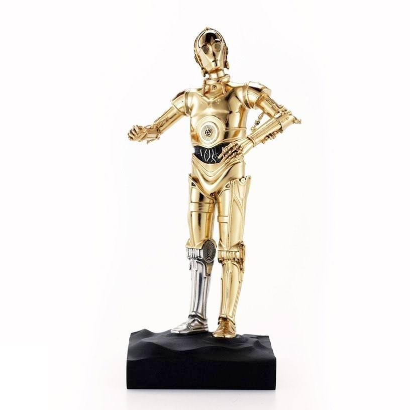 Star wars statuette pewter collectible c 3po limited edition 23 cm 2 1