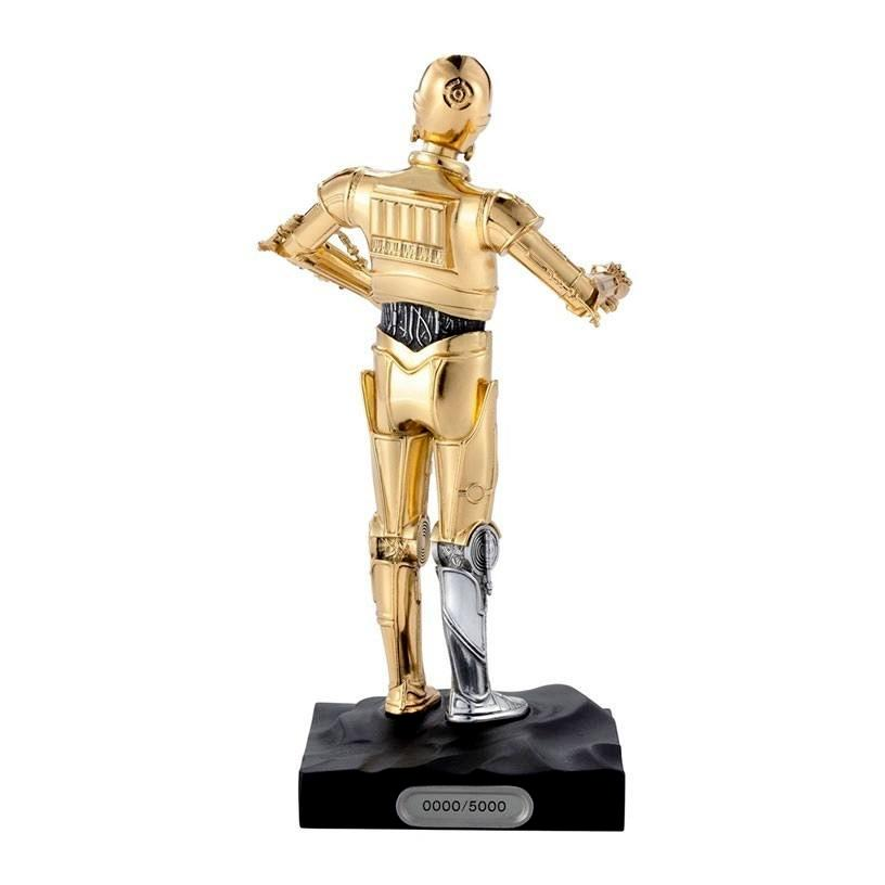 Star wars statuette pewter collectible c 3po limited edition 23 cm 3 1