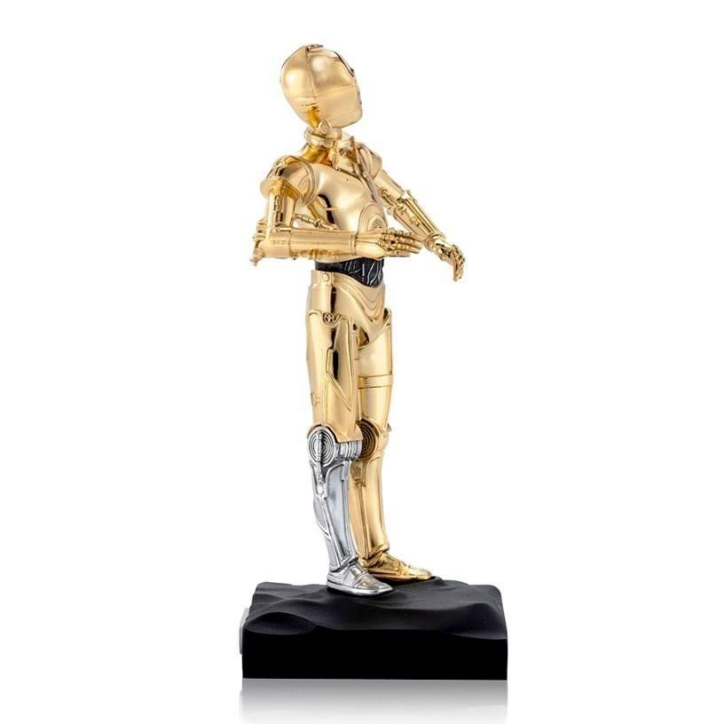 Star wars statuette pewter collectible c 3po limited edition 23 cm 4 1
