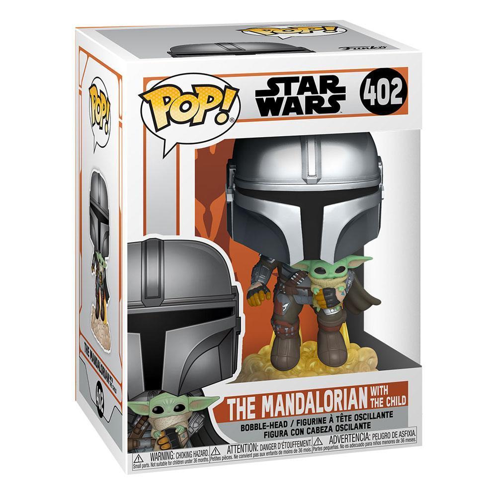 Star wars the mandalorian pop tv vinyl figurine mando flying w jet pack 9 cm 2