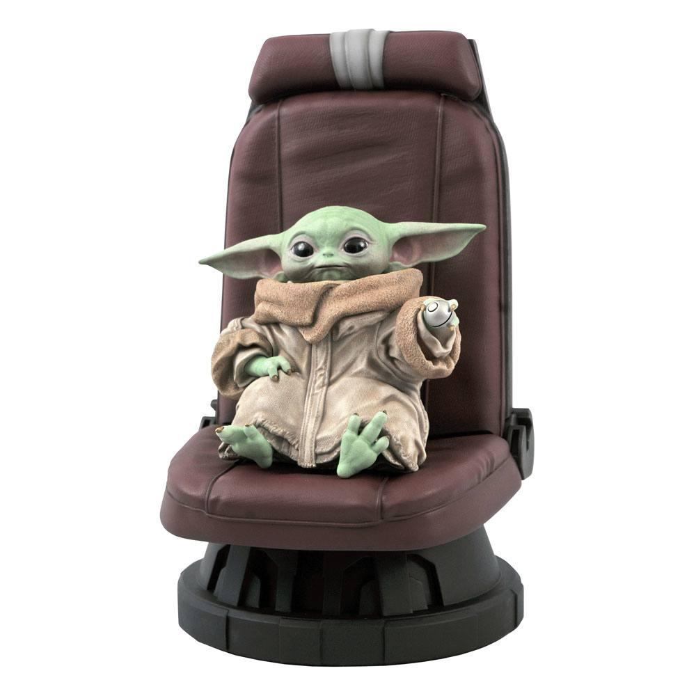 Star wars the mandalorian statuette premier collection the child in chair 30 cm