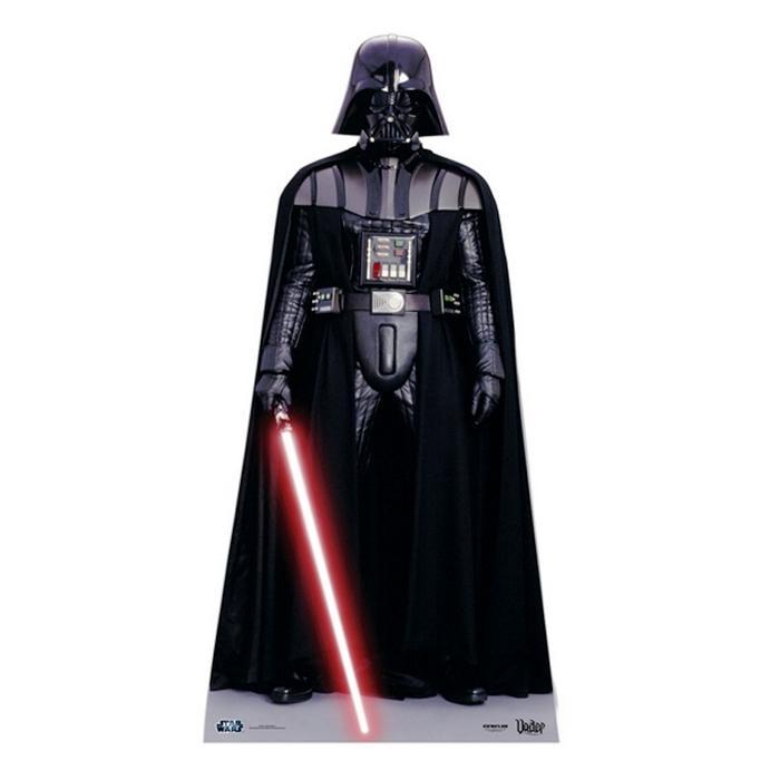 Stars wars dark vador cutout silhouette chevalet