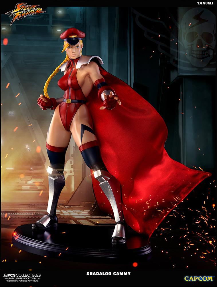 Statue 43cm super street fighter iv shadaloo cammy suukoo toys 1
