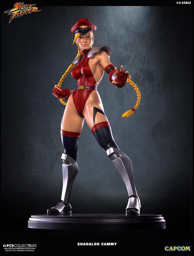 Statue 43cm super street fighter iv shadaloo cammy suukoo toys 8