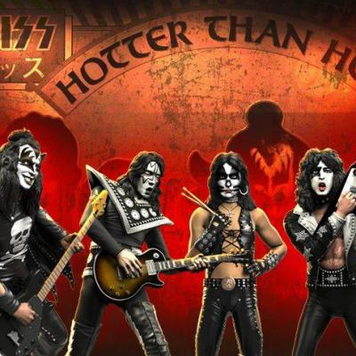 Rock Iconz KISS Hotter than Hell Set complet 4 statuettes résine