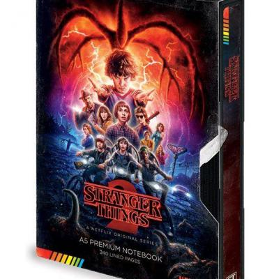 Stranger Things carnet de notes Premium A5 VHS saison 2
