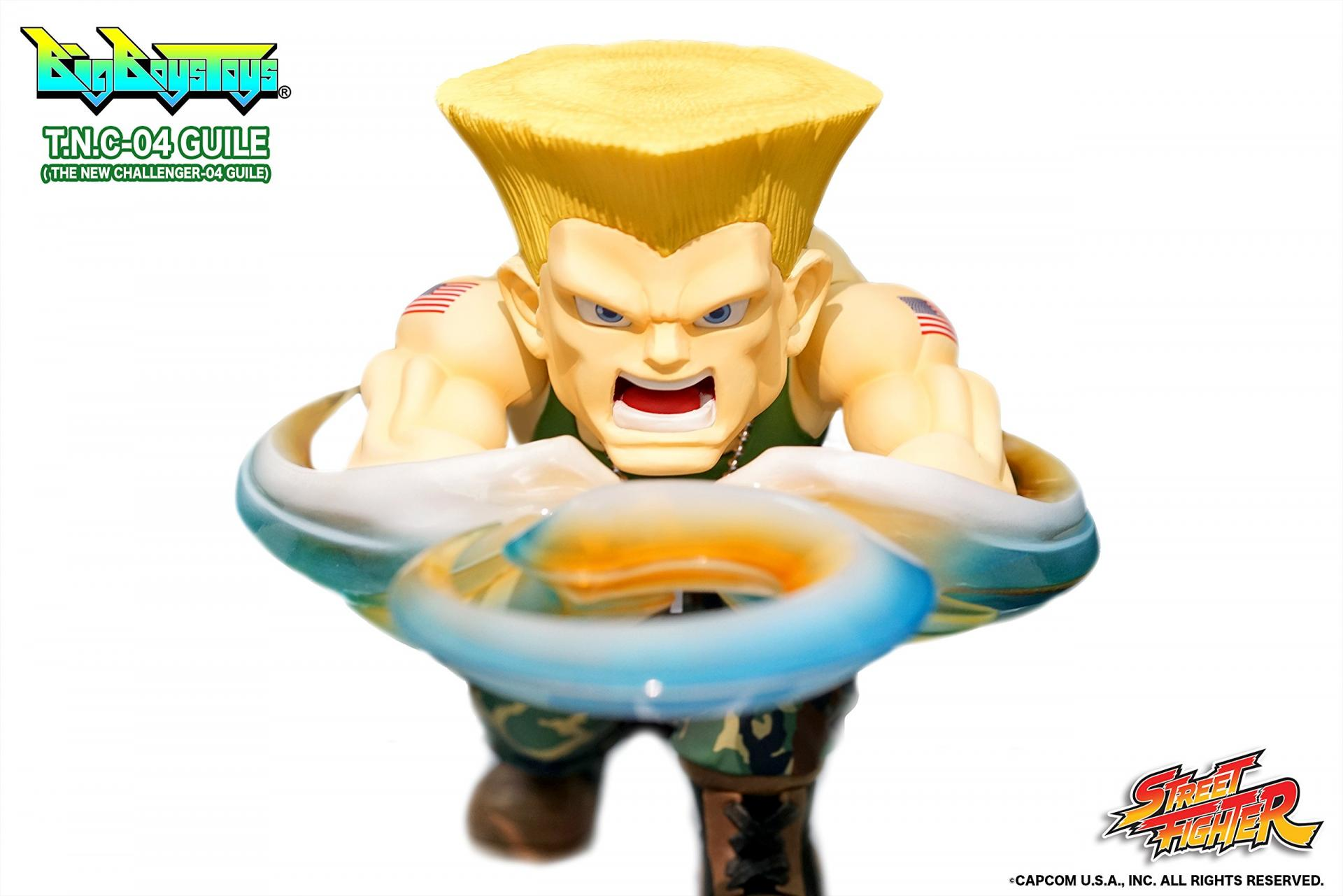 Street fighter figurine led son guile the new challenger 1