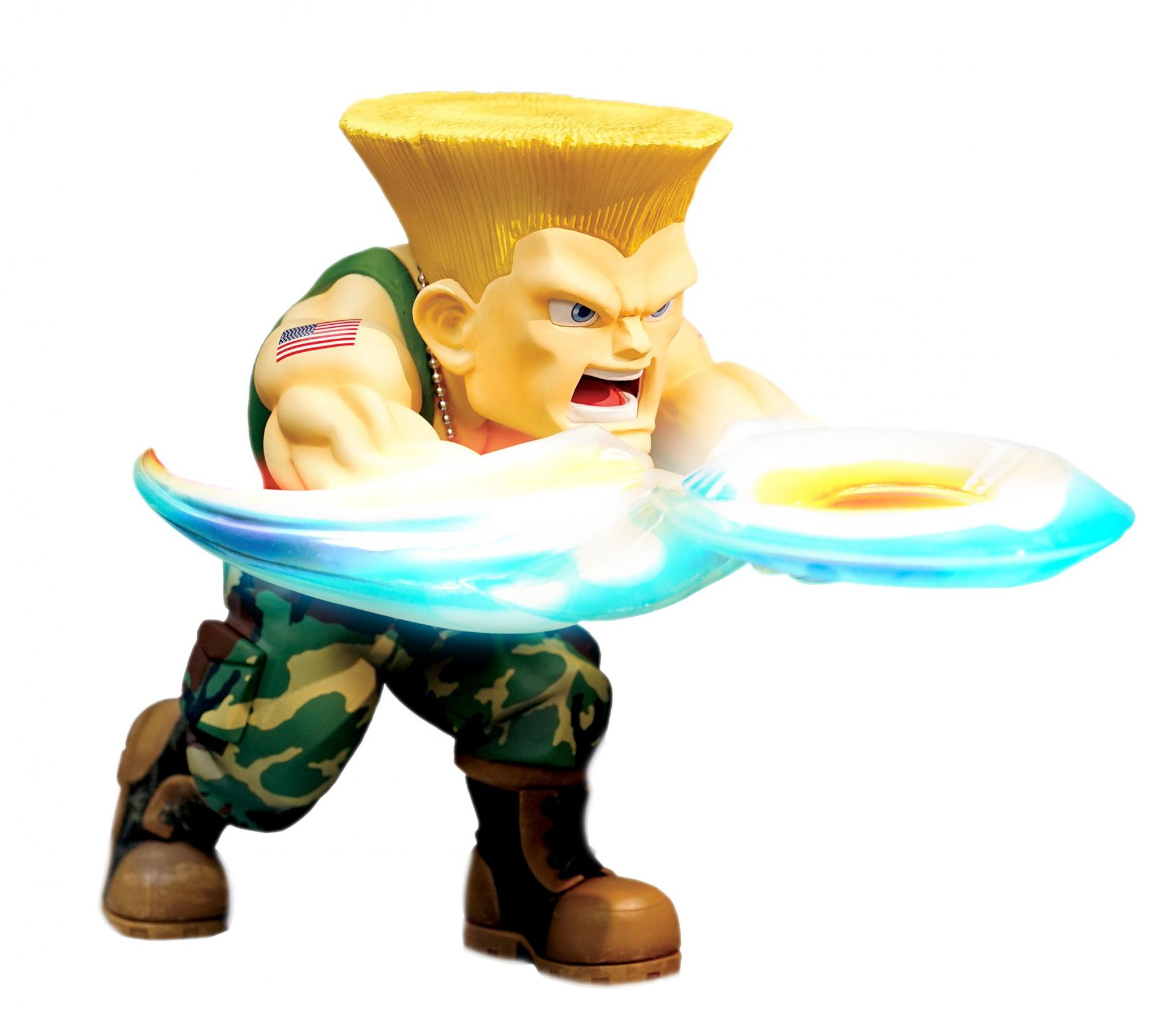 Street fighter figurine led son guile the new challenger 2
