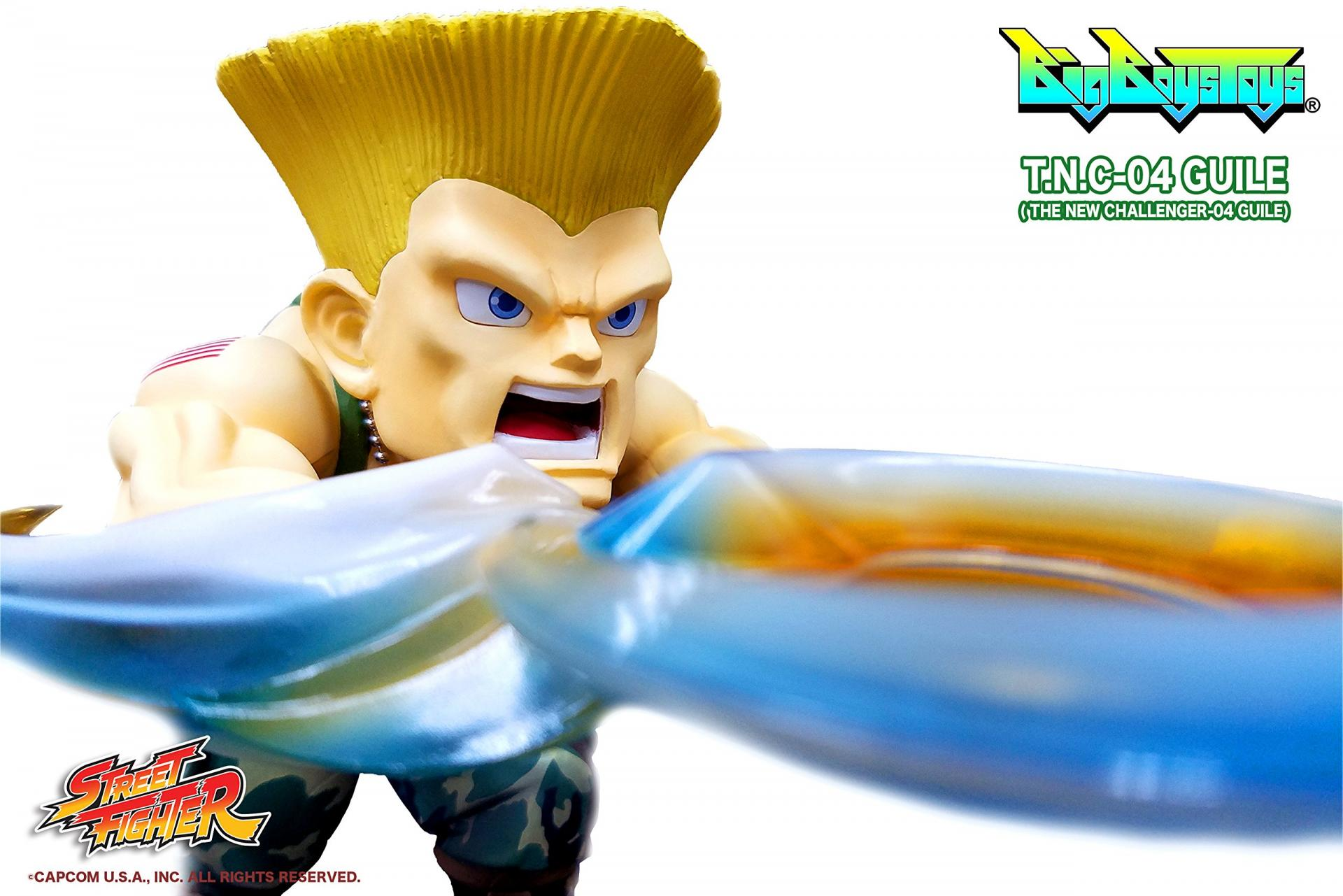 Street fighter figurine led son guile the new challenger 3