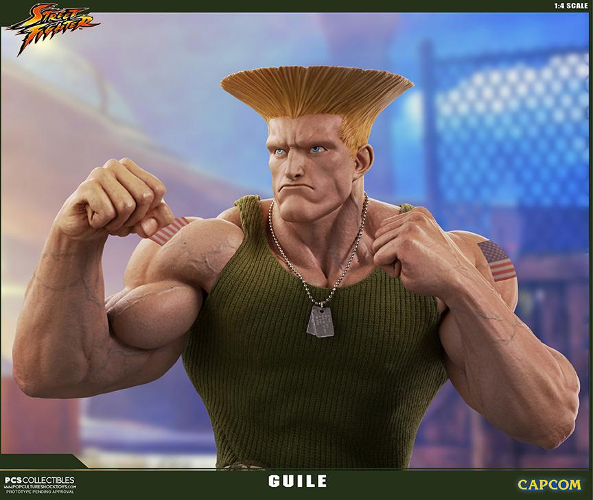 Street fighter statue resine guile 14 mixed media retail version 1
