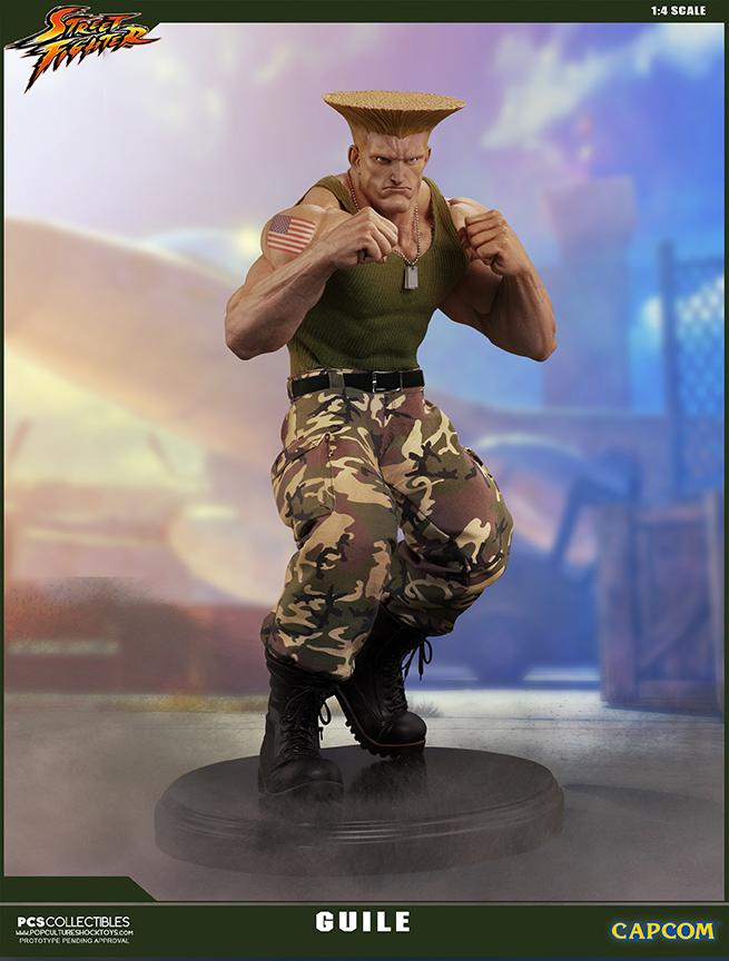 Street fighter statue resine guile 14 mixed media retail version 2