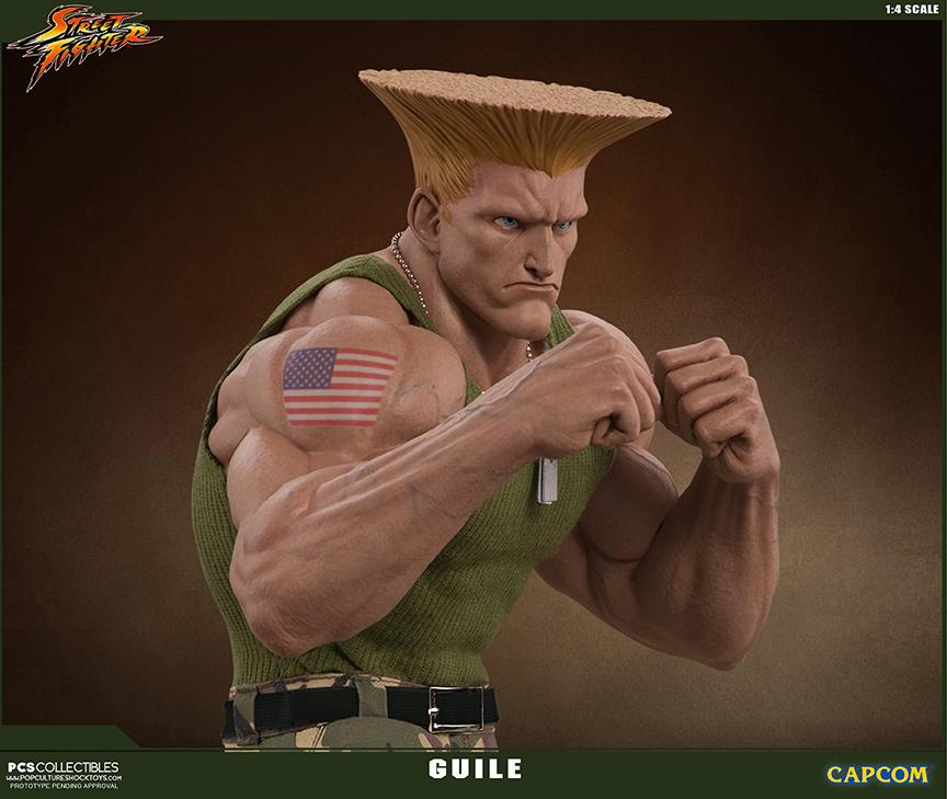 Street fighter statue resine guile 14 mixed media retail version 3