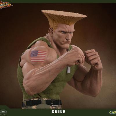 Street Fighter Statue résine GUILE 1/4 Mixed Media Retail Version 44 CM
