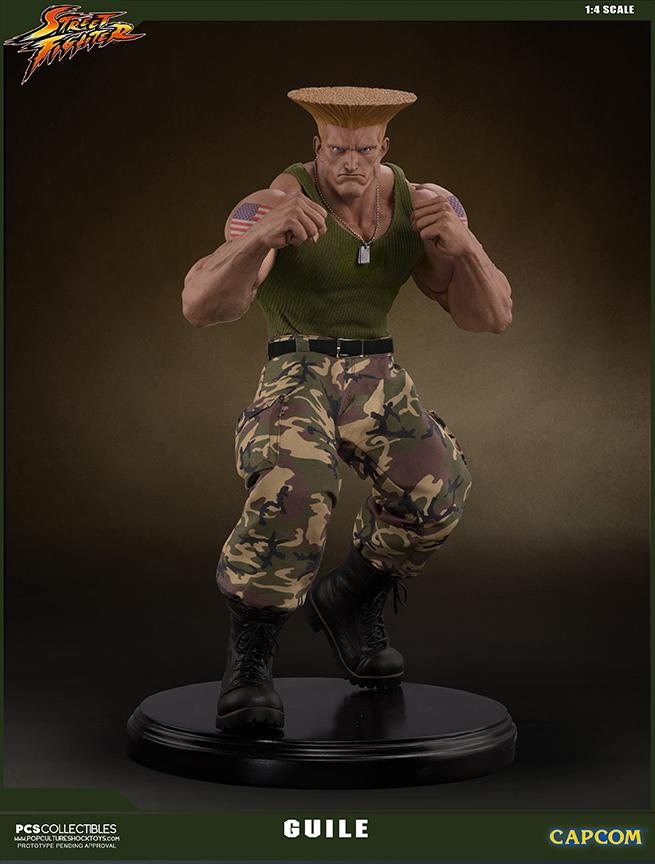 Street fighter statue resine guile 14 mixed media retail version 4