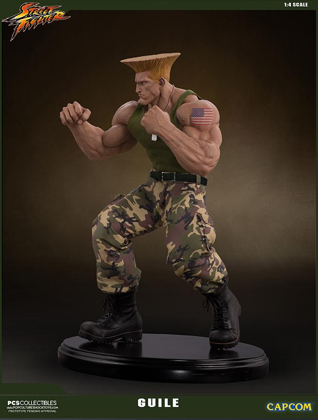 Street fighter statue resine guile 14 mixed media retail version 5