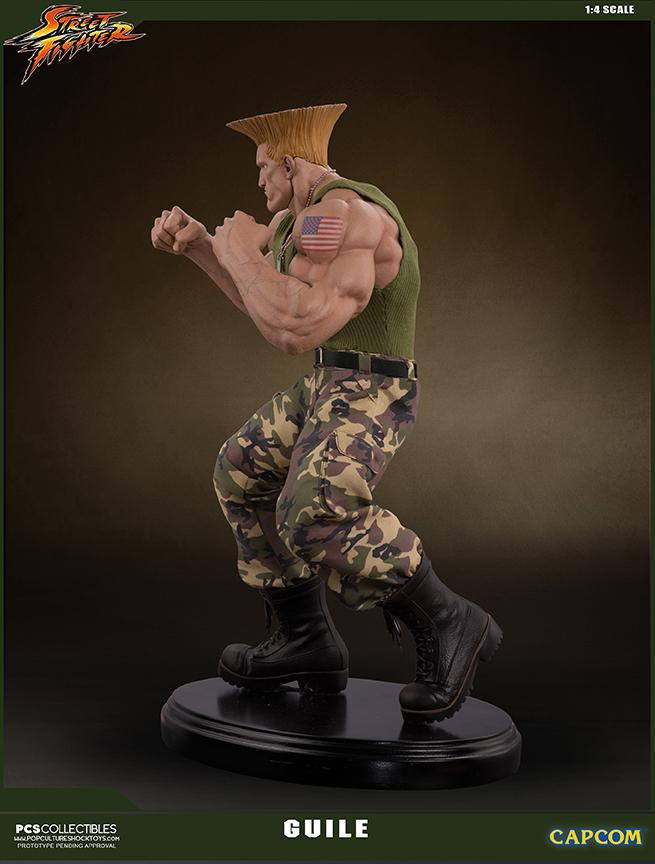 Street fighter statue resine guile 14 mixed media retail version 6