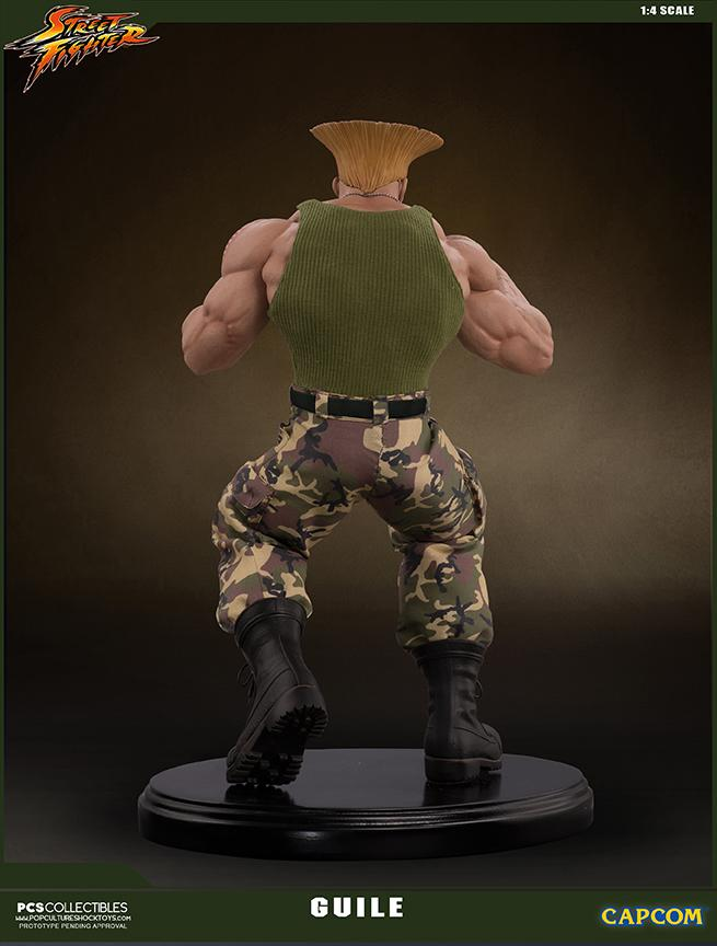 Street fighter statue resine guile 14 mixed media retail version 7