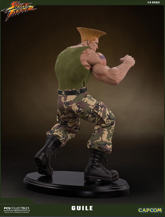 Street fighter statue resine guile 14 mixed media retail version 8