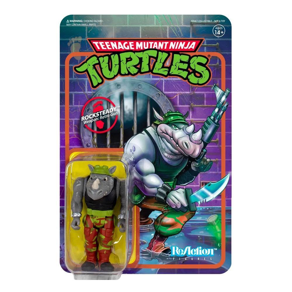 Super 7 les tortues ninja figurine reaction rocksteady 10 cm