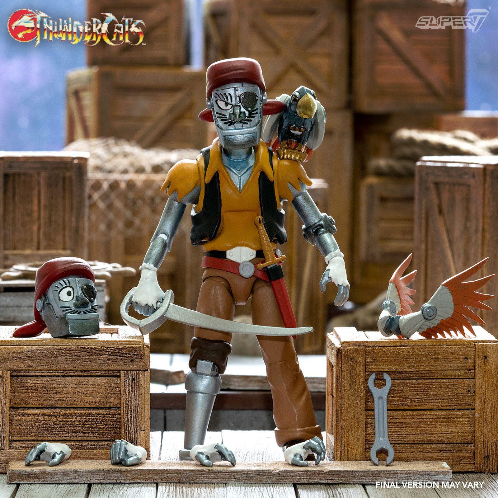 Super7 thundercats wave 3 figurine ultimates captain cracker the robotic pirate suukoo toys