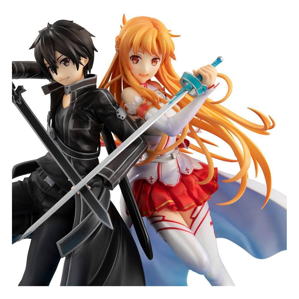 Sword art online statuette pvc lucrea kirito asuna 10th anniversary 22 cm 4
