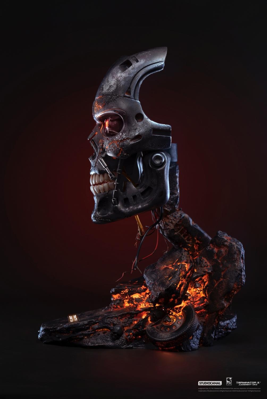 T800 buste mask battle damaged art terminator 2 resine pure arts 2