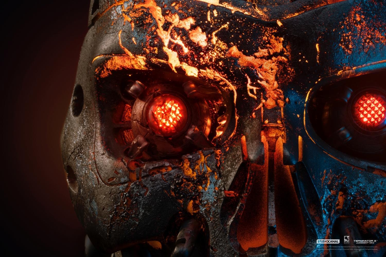 T800 buste mask battle damaged art terminator 2 resine pure arts 4