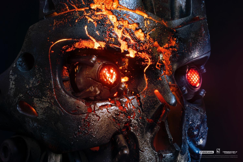 T800 buste mask battle damaged art terminator 2 resine pure arts 5