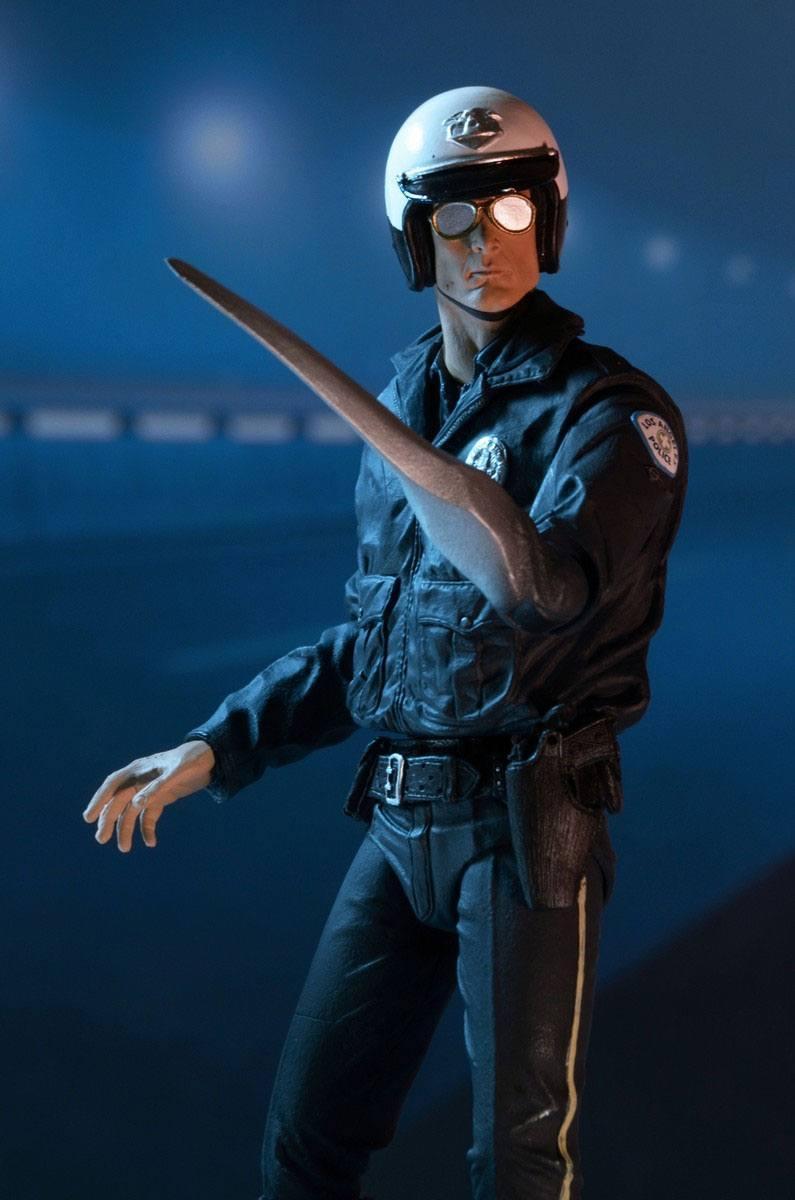 Terminator 2 figurine ultimate t 1000 motorcycle cop 18 cm 8