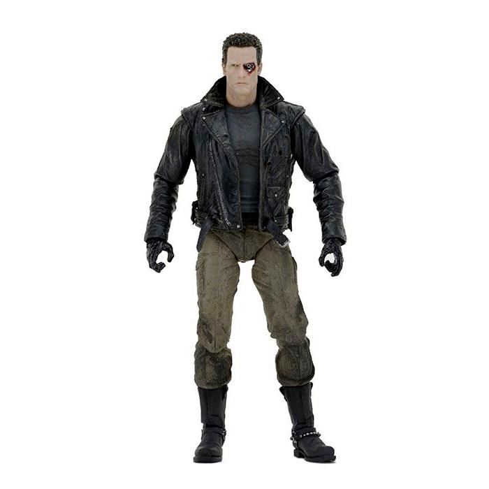 Terminator figurine ultimate police station assault t 800 motorcycle jacket 18 cm neca 1