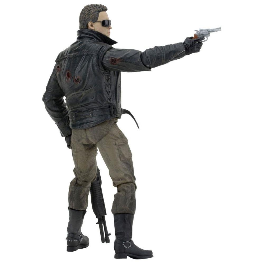 Terminator figurine ultimate police station assault t 800 motorcycle jacket 18 cm neca 2