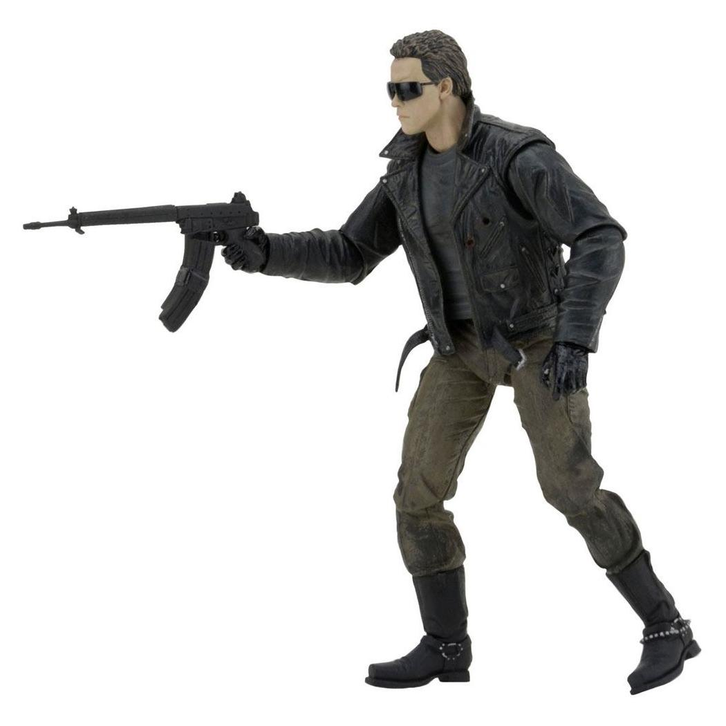 Terminator figurine ultimate police station assault t 800 motorcycle jacket 18 cm neca 3