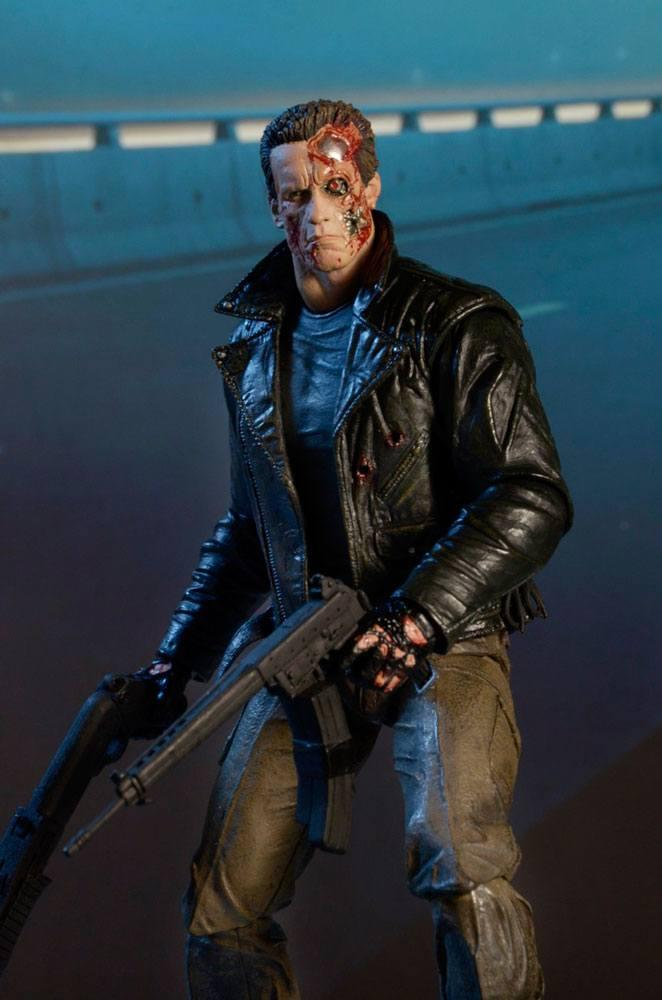 Terminator figurine ultimate police station assault t 800 motorcycle jacket 18 cm neca 4