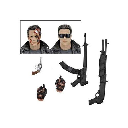 Terminator figurine ultimate police station assault t 800 motorcycle jacket 18 cm neca 8 1