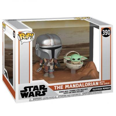 The Mandalorian pack 2 POP Moment! Vinyl figurines Mandalorian & Child 9 cm