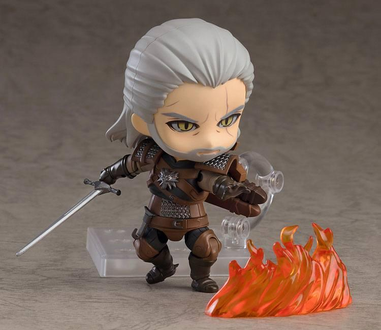 The witcher 3 wild hunt figurine nendoroid geralt 10 cm 2