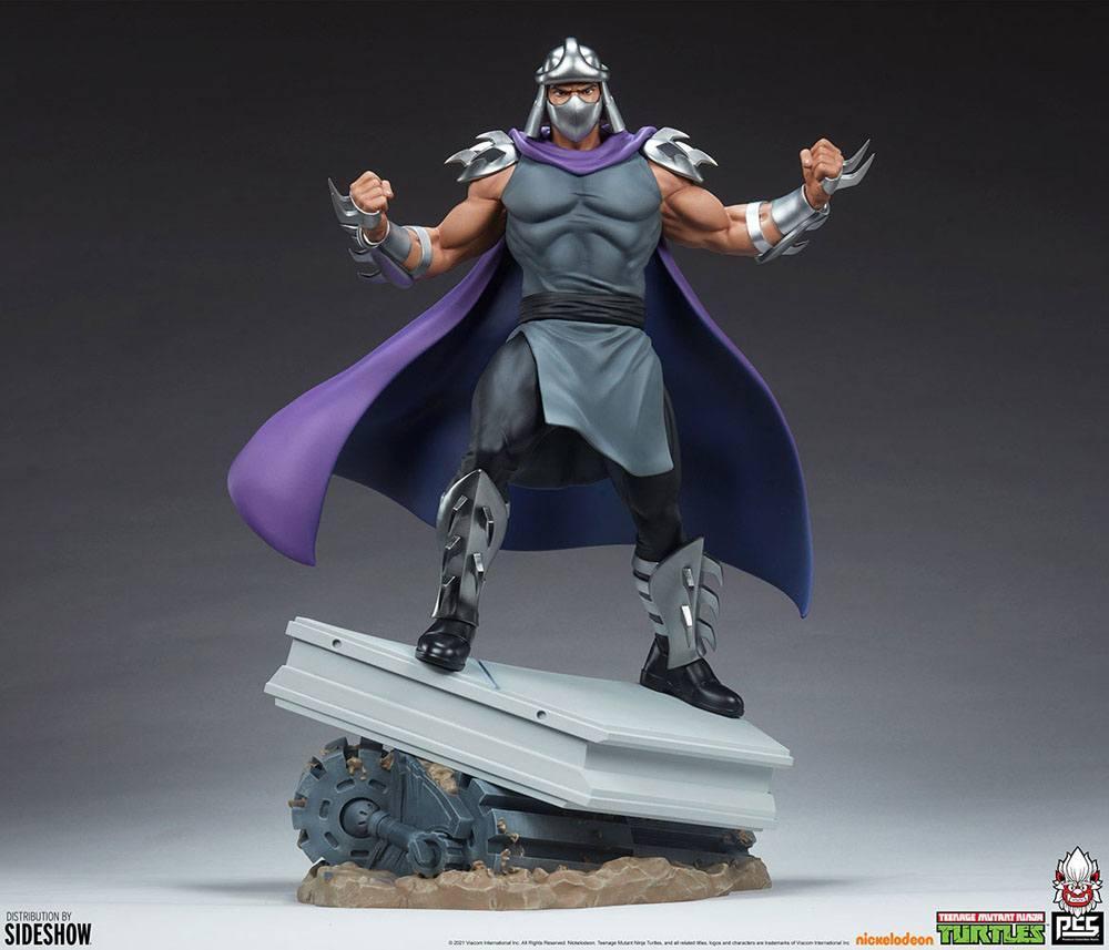 Tmnt les tortues ninja shredder statue resine pcs collectible suukoo toys 2