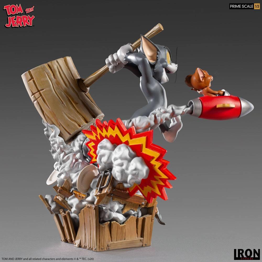 Tom jerry statuette prime 21 cm iron studios 5