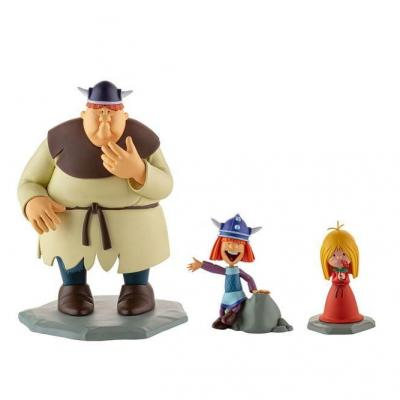 Vic le Viking coffret 3 statuettes Vic, Ylvi & Faxe 7 - 16 cm