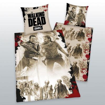Walking dead parure de lit tag team 135 x 200 cm 80 x 80 cm