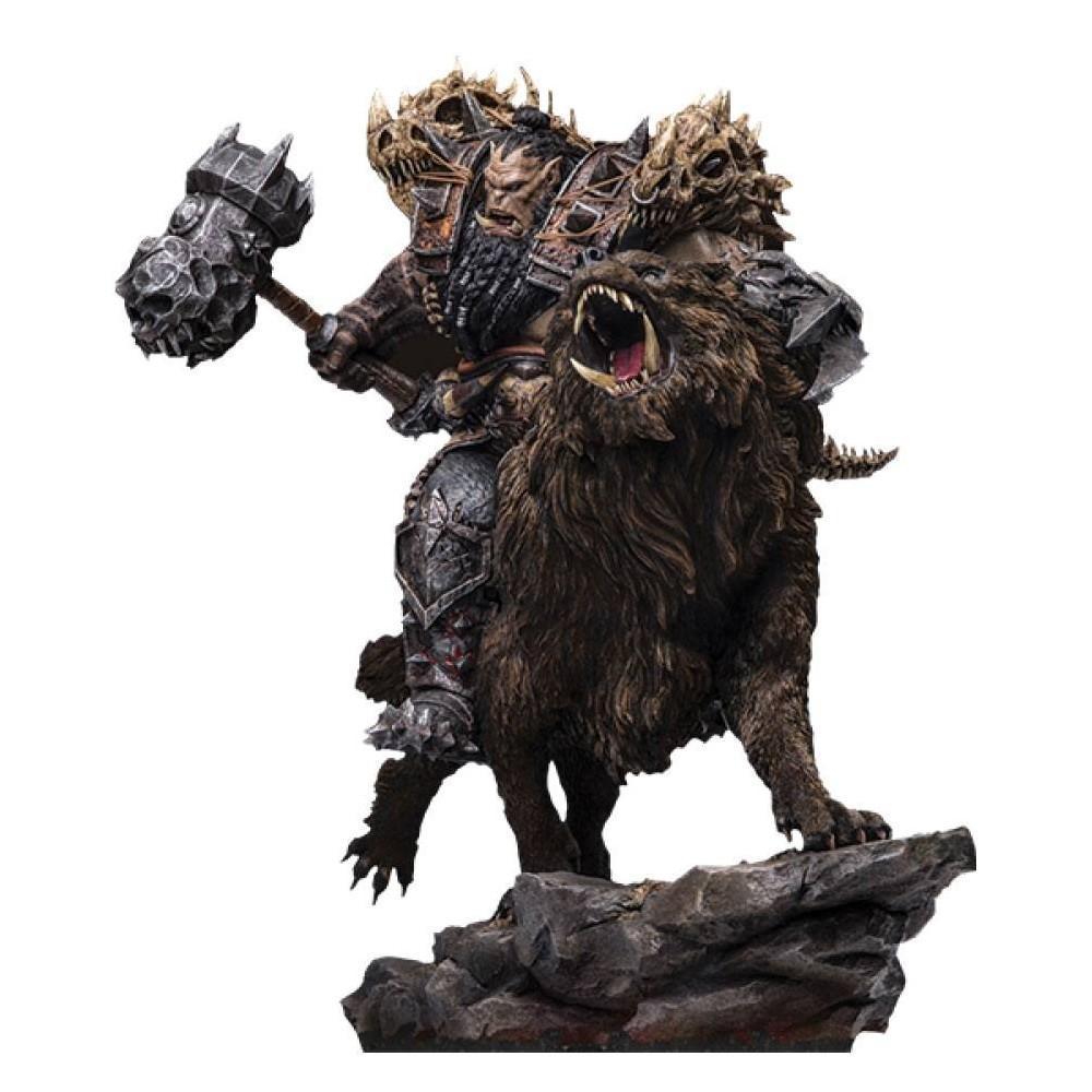 Warcraft the beginning statuette 19 blackhand riding wolf standard version 40 cm 1