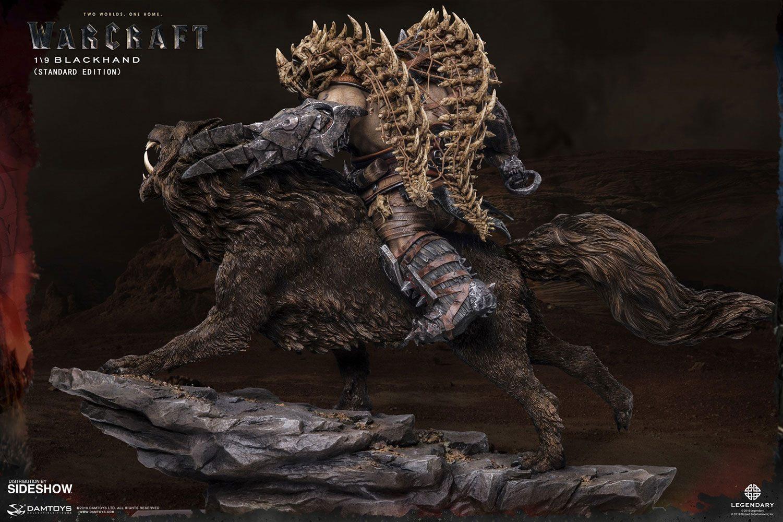 Warcraft the beginning statuette 19 blackhand riding wolf standard version 40 cm 3