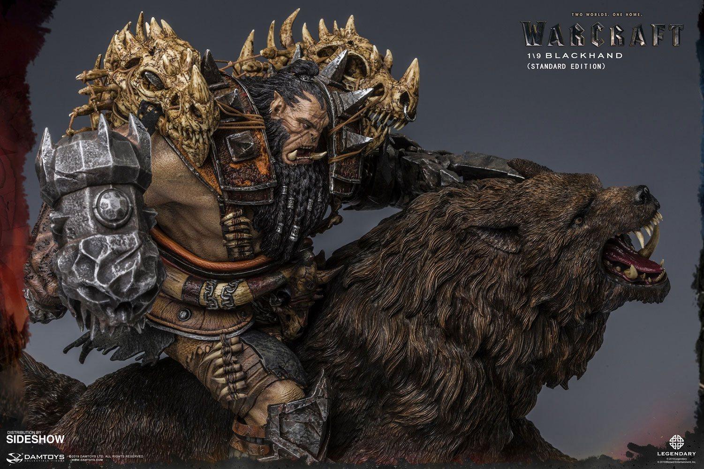Warcraft the beginning statuette 19 blackhand riding wolf standard version 40 cm 6
