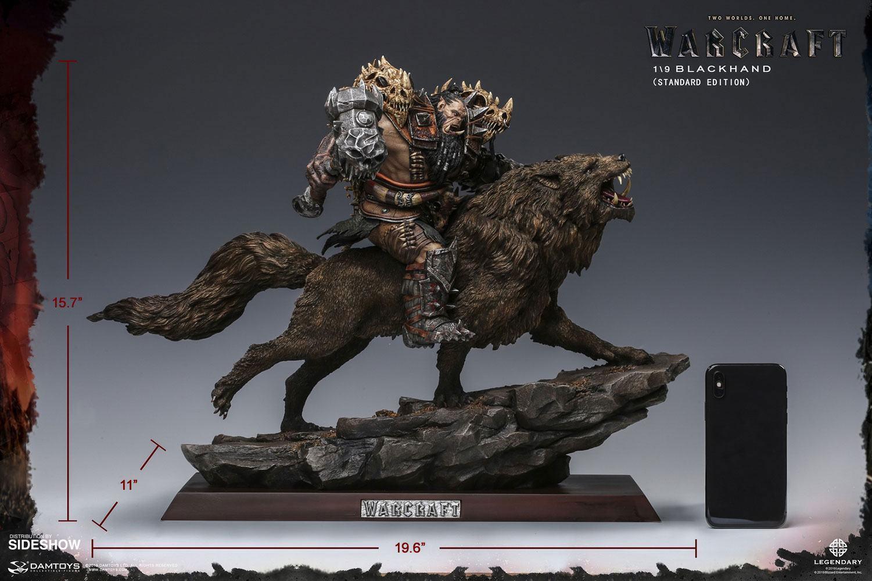 Warcraft the beginning statuette 19 blackhand riding wolf standard version 40 cm 9