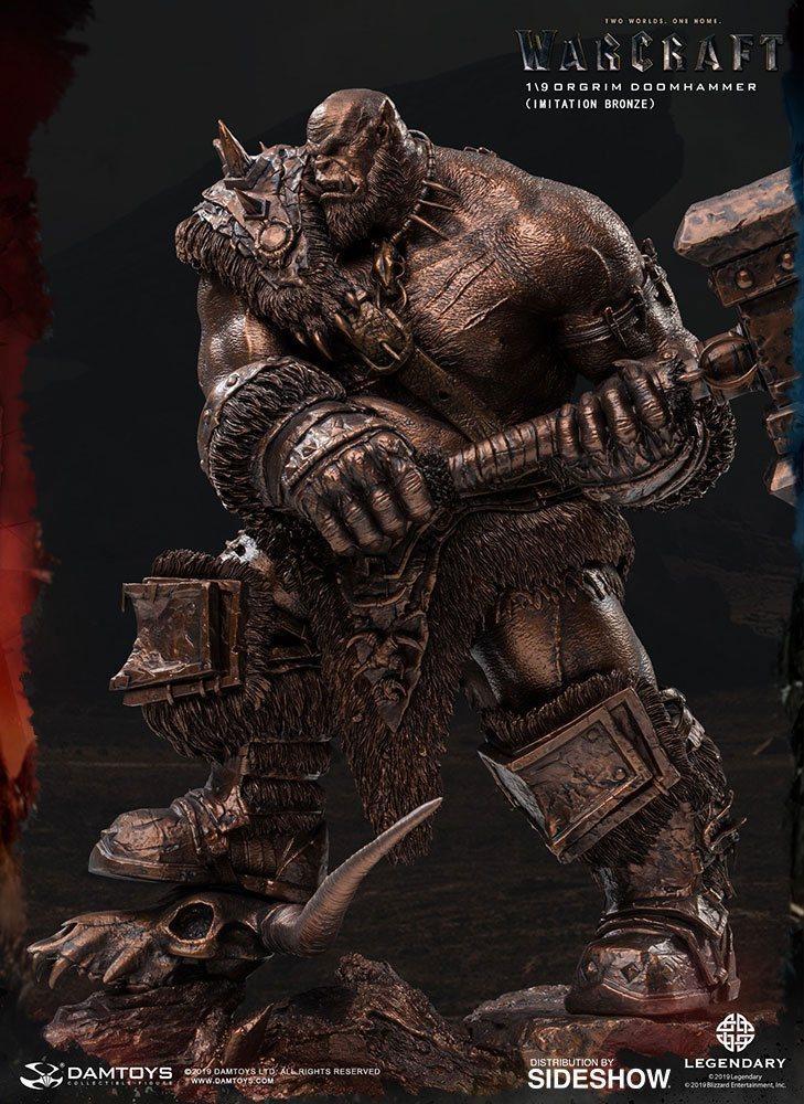 Warcraft the beginning statuette 19 orgrim imitation bronze version 27 cm 2