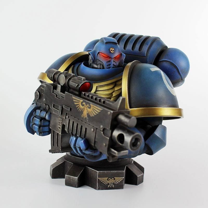 Warhammer 40k buste ultra marine primaris 16 cm 1