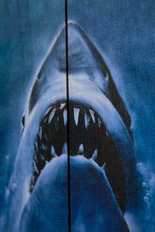Woordarts jaws les dent de la mer tableau en bois print 3