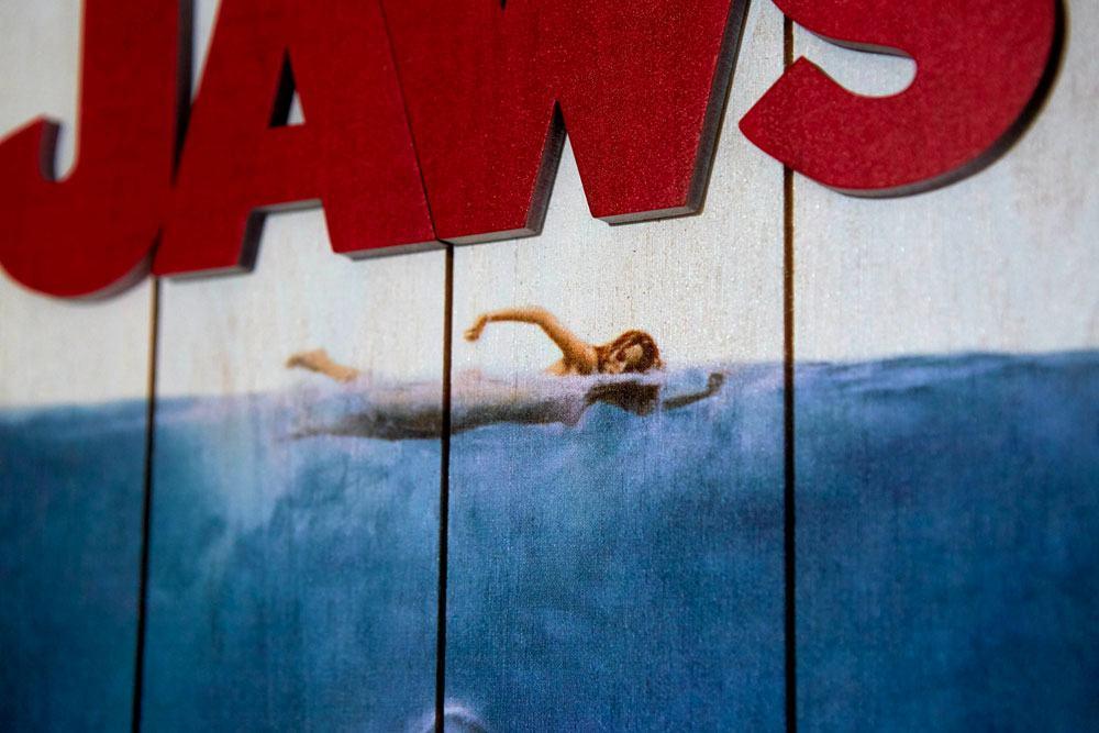 Woordarts jaws les dent de la mer tableau en bois print 4