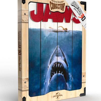 Woordarts jaws les dent de la mer tableau en bois print 5