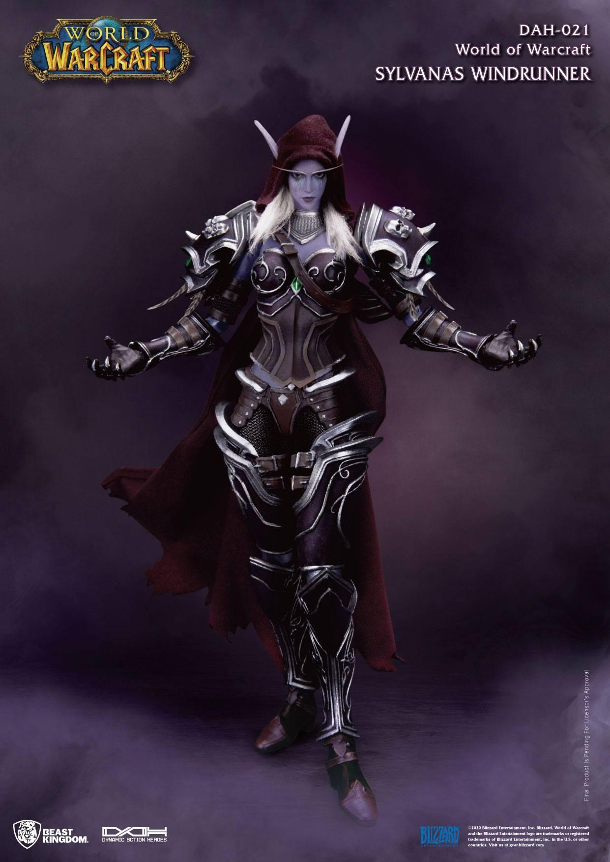 World of warcraft battle for azeroth figurine dynamic action heroes 19 sylvanas windrunner 21 cm 1